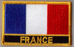 France Embroidered Flag Patch, style 09.
